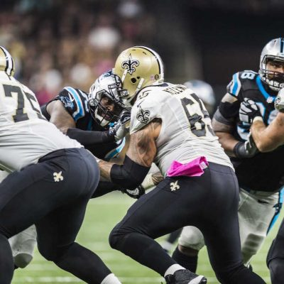 Carolina Panthers play against the New Orleans Saints on Sunday, October 16, 2016 at the Mercedes Benz Super Dome in New Orleans, LA.
