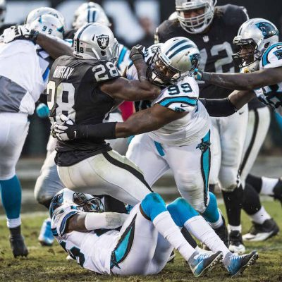 Carolina Panthers play against the Oakland Raiders at the Oakland-Alameda County Coliseum on Sunday, November 27, 2016 in Oakland, CA.