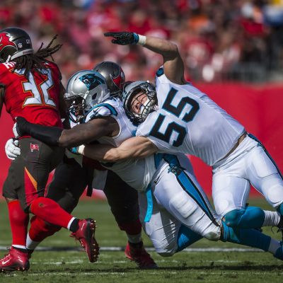 Carolina Panthers play against the Tampa Bay Buccaneers on Sunday, January 1, 2017 at Raymond James Stadium in Tampa, FL.