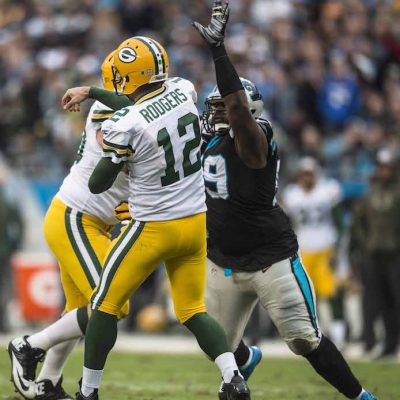 Carolina Panthers play against the Green Bay Packers on Sunday, November 8, 2015 at Bank of America Stadium.