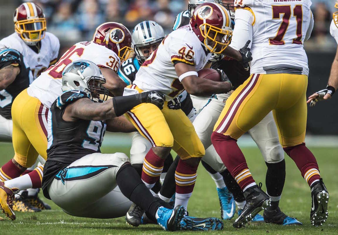 Carolina Panthers play against Washington on Sunday, November 22, 2015.